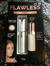 FLAWLESS Electric FACIAL NECK CHIN UPPER LIP Hair Remover LED Light NEW ITEM