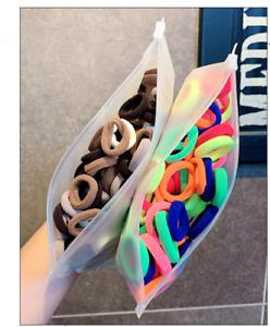 50/100pcs/Set Girls Colorful Nylon Small Elastic Hair Bands Children Ponytail