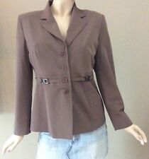 Vertigo Paris Techno Trussy Brown Blazer Jacket Size L Msrp $380.00