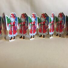 The Victoria Collection Christmas Santa Garland ~ Lot of 14 Each 6' Long Paper