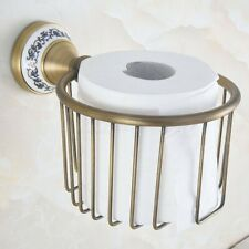Antique Brass Wall Mounted Bathroom Toilet Paper Towel Roll Tissue Holder Zba779