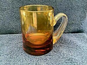 Amber Glass Tankard Mug