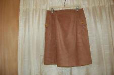 J. Mc Laughlin Faux Suede Brown Skirt Size 6