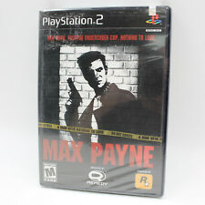 PS2 Max Payne, 1st Print Factory Sealed Sony Playstation 2 Black Label (2001)