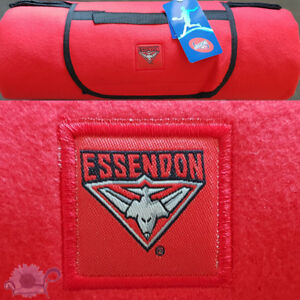 Essendon Bombers AFL Picnic Rug | Polar Fleece Front | Water Resistant Backing