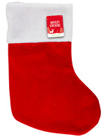 DELUXE FATHER CHRISTMAS SANTA SACK RED STOCKING BAG GIFT PRESENTS XMAS TOY 39 CM