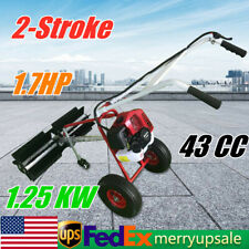 Artificial Grass Brush Gas Powered Broom Handheld Turf Lawn Sweeper Device 1250w