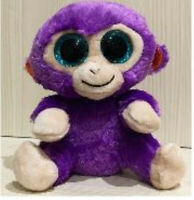 "NEW Baby Boos Purple Monkey 6"" No Tags GREAT for Crafters!"