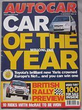 AUTOCAR 17/11/1999 featuring Porsche GT3, Toyota, Colin McRae
