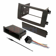 Radio Replacement Dash Kit Single-DIN w/Pocket & Harness for Smart ForTwo