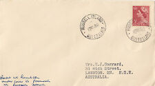 Postmark RUSSELL ISLAND Queensland on plain cover 3&1/2d QE2 definitive stamp