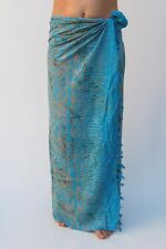 NEW PREMIUM QUALITY TURQUOISE SARONG PAREO BEACH POOL WRAP SWIM COVER / sa332P