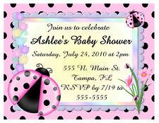 20 LADYBUG BABY SHOWER INVITATIONS