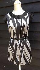 Black & Grey Shift Dress with gold studded belt  Size 10  A6