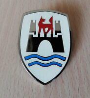 VW Volkswagen Wolfsburg Crest White Color Castle Hood Enamel Emblem Beetle Bug