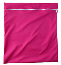 Bright Pink Large waterproof Dry Wet Bag baby cloth nappies, wet swimwear towels