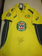 David Warner (Australian Vice Captain) signed 2015/16 ODI Cricket Shirt