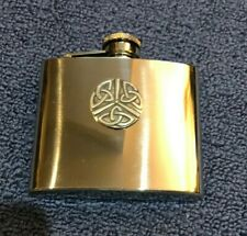 Flask. Irish, Celtic Knot, Whiskey Flask, 5oz Stainless Steel, Perfect condition