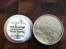 Wild Bergamot & Plantain Tooth Powder 1 oz. Wildcrafted