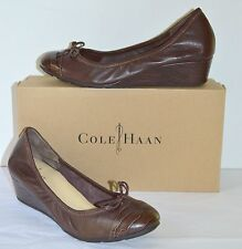 New $168 Cole Haan Nike Air Tali Lace Wedge Chestnut Brown/Crocodile Print 8 lot