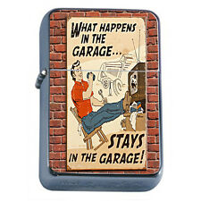 Vintage Poster D230 Windproof Dual Flame Torch Lighter Happens in Garage Stays