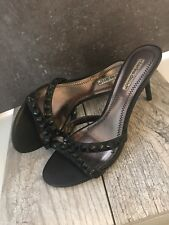 Charles David Black Spiked Leather Heals Size 8