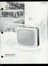 Rare Vintage Original 1963 Philco Model 3219 B&W Television TV Dealer Sheet Page