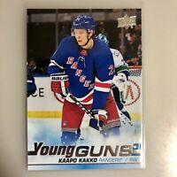 Kaapo Kakko 2019-20 Upper Deck Series 2 Rookie Young Guns RC New York Rangers