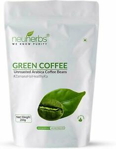 Neuherbs Unroasted Arabica Green Coffee Beans For Weight Loss ,Immunity Booster