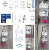 CHROME STAINLESS STEEL CORNER SHOWER RACK CADDY BATHROOM SHELF ORGANIZER UNIT