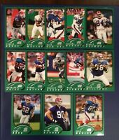 2002 Topps BUFFALO BILLS Complete Team Set 13 Moulds-Clements-Reed RC Look !