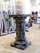 Black Marble Plinth Display Stand Unit - Hotel Business Shop Retail Decor