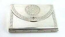 ANTIQUE MIRROR PURSE POWDER COMPACT VINTAGE 70 YEAR OLD .925 STERLING SILVER