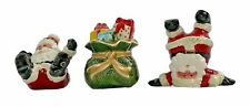 Fitz & Floyd Gifts from Santa Tumblers Figurines 2005 Hand Painted Christmas New