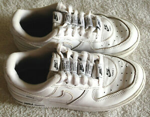 Nike, Air Force 1 White Leather Trainers, UK 11