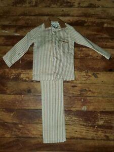 Vintage White & Tan Striped Suit Hasbro Barbie KEN DOLL1960's & 70's ACCESSORY