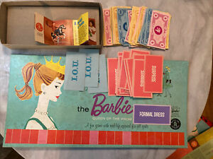 """VINTAGE ORIGINAL 1961 """"Queen of the Prom"""" BARBIE BOARD GAME - MATTEL Parts Only"""