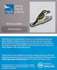 RSPB Pin Badge | Treecreeper | GNaH backing card [00599]