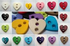 5pcs VERY LARGE FLAT HEART ITALIAN BUTTONS 23mm-B510 SCRAPBOOKING SEWING CARDS