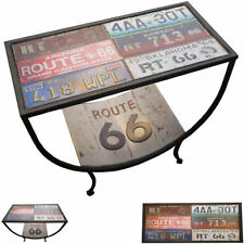 Route 66 Metal Coffee End Table Number Plate Vintage Retro Side Stand