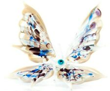 Butterfly Middle Beige Blown Glass Art Home Decor Animal Sculpture