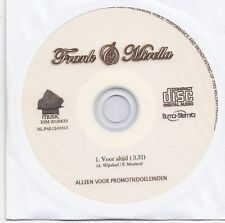 Frank&Mirella-Voor Altijd promo cd single