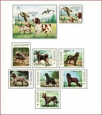 LAO86082 Dogs 8 stamps and block