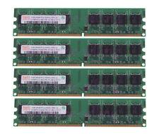 4x Hynix 1GB DDR2 PC2-5300U 667MHz 2Rx8 240PIN DIMM RAM Desktop Memory Intel