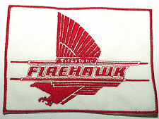 FIREHAWK FIRESTONE Original Vintage 1980`s Embroidered Sew On Patch