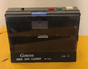 Vintage Geneva VHS Tape Cleaner PF-740 two way cleaning system Tested & works!