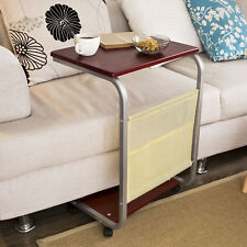 SoBuy Rolling Coffee Table,Bed Sofa Side Table,Breakfast in Bed Tray,FBT21-BR,UK