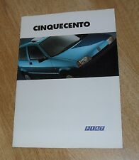 Fiat Cinquecento Car Sales Brochure 1994 inc SX