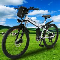 26'' Electric Bicycle Mountain Bike Folding City Damping E-Bike Shimano 21Speed