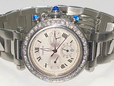 Cartier Pasha Chronograph 1050 Quartz Diamond Watch